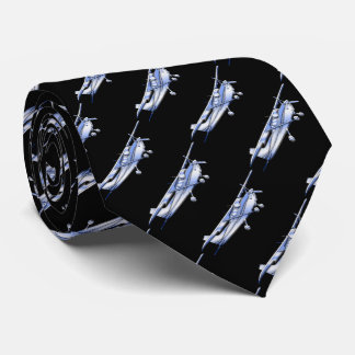 Aircraft Classic Chrome Cessna Silhouette Flying Neck Tie