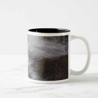 Aircraft dissipation trails Two-Tone coffee mug