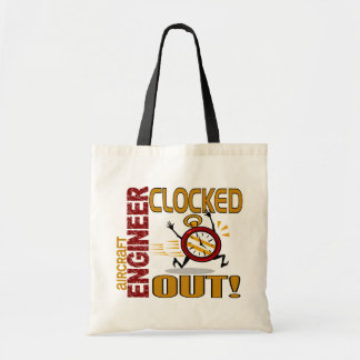 Aircraft Engineer Clocked Out Canvas Bag