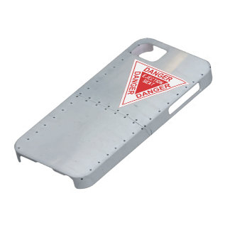 Aircraft fuselage (Danger Ejection seat) iPhone SE/5/5s Case