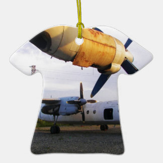 Aircraft graveyard in the east. Double-Sided T-Shirt ceramic christmas ornament
