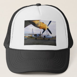 Aircraft graveyard in the east. trucker hat