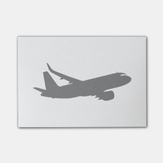 Aircraft Jet Liner Silhouette Flying Decor Post-it® Notes