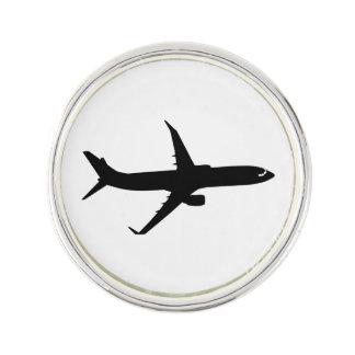Aircraft Jetliner Black Flight Customize Color Pin