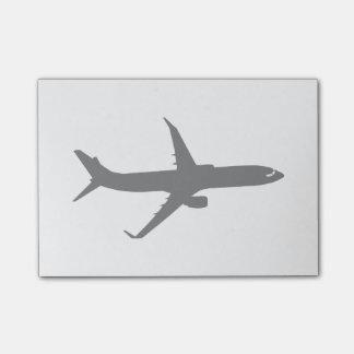 Aircraft Jetliner Black Flight Customize Color Post-it® Notes