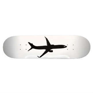 Aircraft Jetliner Black Flight Customize Color Skateboard Deck