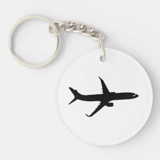 Aircraft Jetliner Shadow Flight Customize Color Keychain