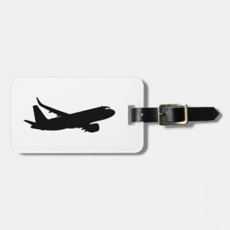 Aircraft Jetliner Silhouette Flying Tags For Bags