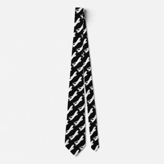 Aircraft JetLiner Silhouette Flying Tie
