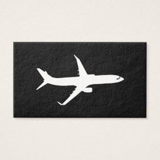 Aircraft JetLiner White Silhouette Flying Business Card