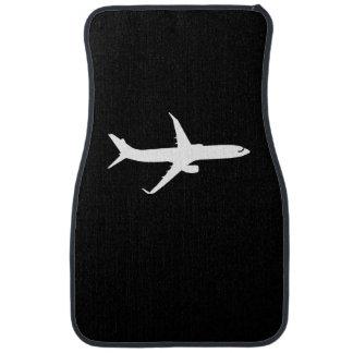 Aircraft JetLiner White Silhouette Flying Car Mat