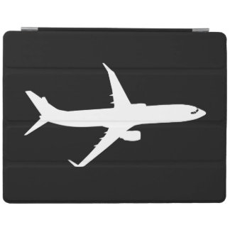 Aircraft JetLiner White Silhouette Flying iPad Smart Cover