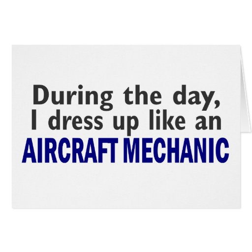 Aircraft Mechanic During The Day Greeting Card