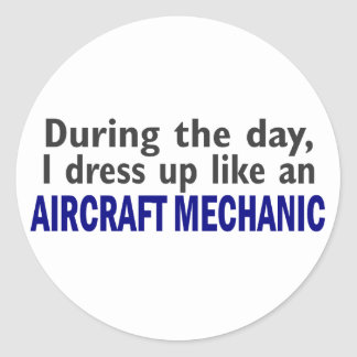 Aircraft Mechanic During The Day Stickers