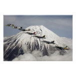 Aircraft Over Mt. Fuji, Japan Poster