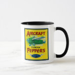 Aircraft Pepper Label Mug