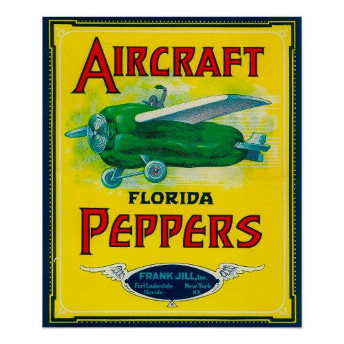 Aircraft Pepper Label