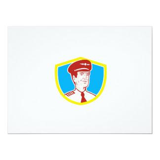 Aircraft Pilot Aviator Shield Retro 17 Cm X 22 Cm Invitation Card