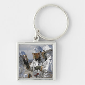Aircraft Rescue Firefighter Marines Silver-Colored Square Keychain