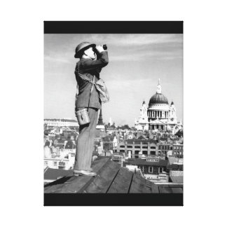 Aircraft spotter on the roof of a building_War ima Canvas Print