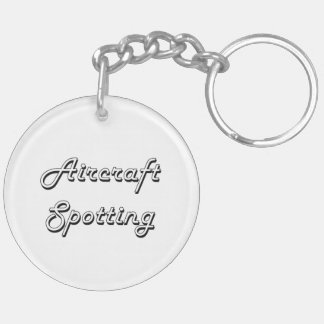 Aircraft Spotting Classic Retro Design Double-Sided Round Acrylic Keychain