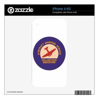 Aircraft Warning Service Volunteer Observer iPhone 4S Skin