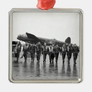 Aircrew 106 Lancaster Bomber RAF Metal Ornament