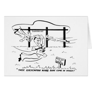 Aircrewman Wings Greeting Card