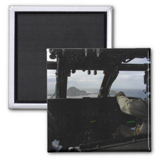 Aircrews approach Farallon Island 2 Inch Square Magnet