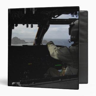 Aircrews approach Farallon Island 3 Ring Binder