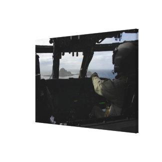 Aircrews approach Farallon Island Canvas Print