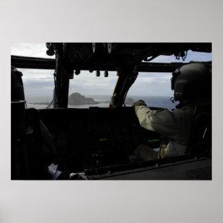 Aircrews approach Farallon Island Print