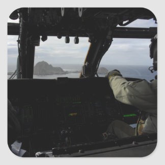 Aircrews approach Farallon Island Square Sticker