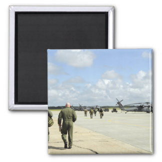 Aircrews prepare to depart 2 inch square magnet