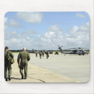 Aircrews prepare to depart mouse pad