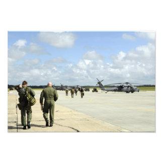 Aircrews prepare to depart photographic print