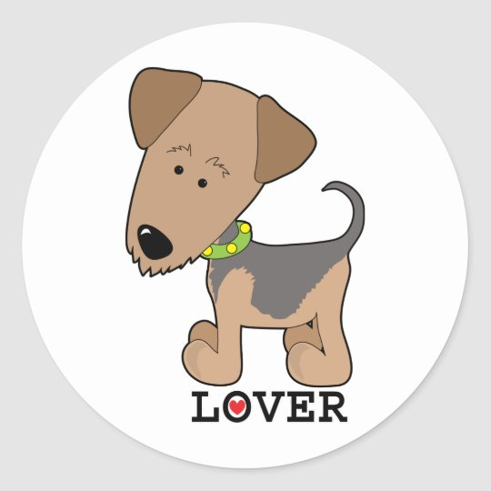Airdale Lover Classic Round Sticker