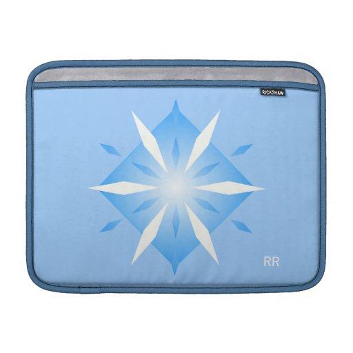 """Aire azul 13"""" de Macbook de la forma del diamante  Funda MacBook"""
