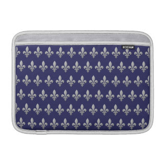 Aire azul floral 11 de Macbook de la flor de lis d Fundas MacBook