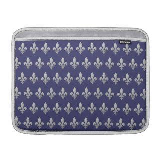 """Aire azul floral 13"""" de Macbook de la flor de lis Fundas Macbook Air"""