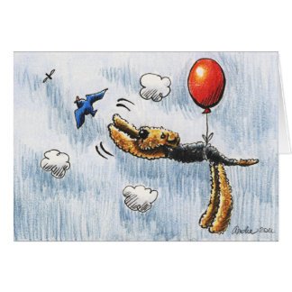 Aire-Balloon Airedale Terrier Card