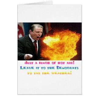 Aire caliente de Al Gore Tarjeta De Felicitación
