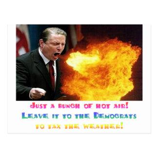 Aire caliente de Al Gore Tarjetas Postales