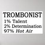 Aire caliente de Trombonistt Posters