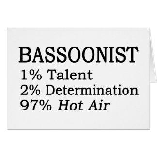 Aire caliente del Bassoonist Felicitaciones