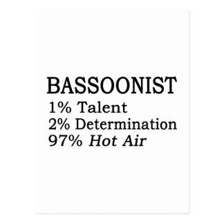 Aire caliente del Bassoonist Tarjeta Postal
