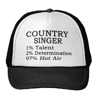 Aire caliente del cantante de country gorros bordados