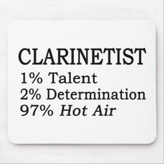 Aire caliente del Clarinetist Mouse Pad