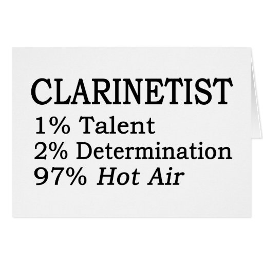 Aire caliente del Clarinetist Tarjeta