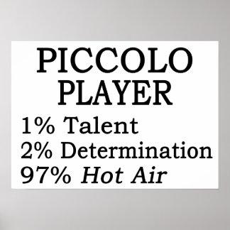 Aire caliente del jugador de flautín póster